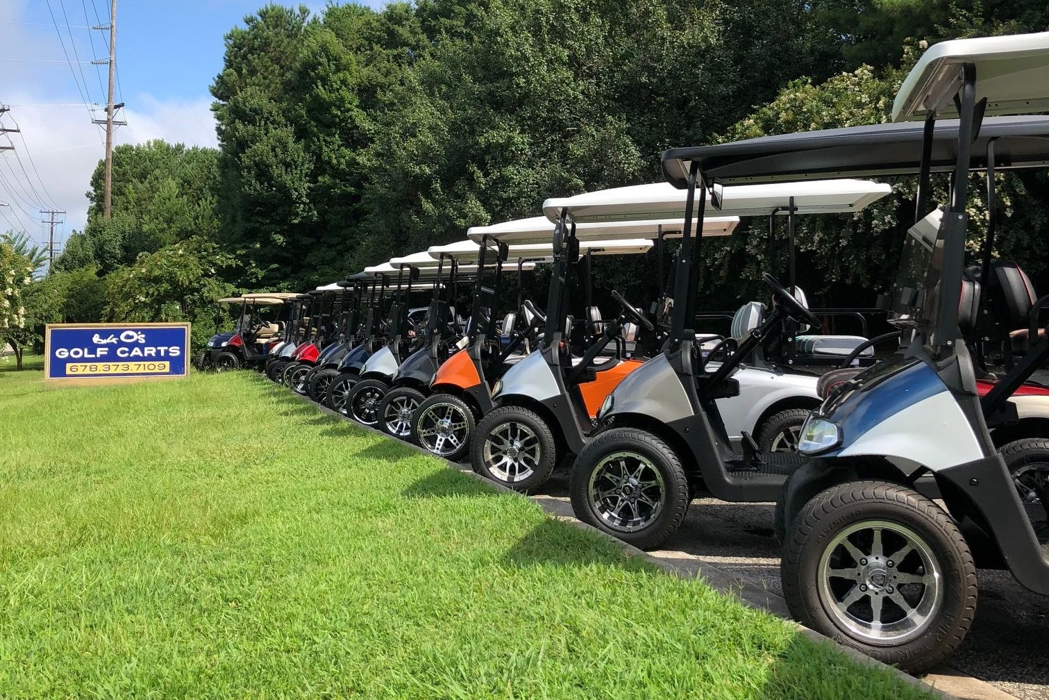 Big O's Golf Carts Lineup